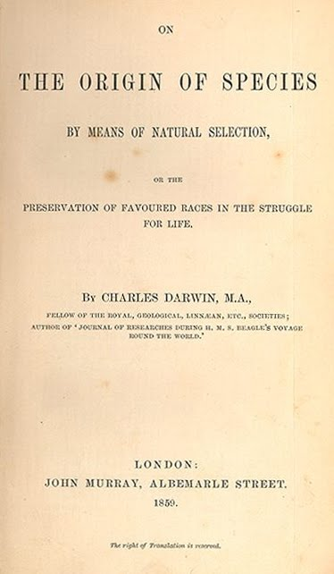 Darwin's famous book cover